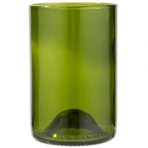 "Tumbler 12OZ H4.5"" Wine Bottle Green 1DZ"