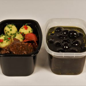 Take-Out Container 16OZ TALL Rectangle CLEAR CuBE DR-516-CB 400CS