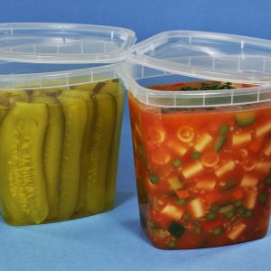 """Take-Out Container 32OZ TALL Rectangle 21.23 x 8.79 x 23.05""""  CLEAR CuBE DR-532-CB 200CS"""