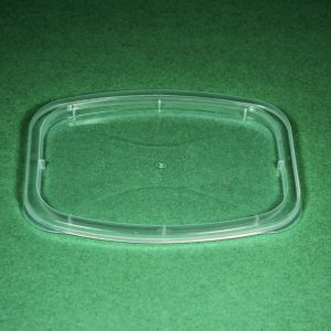 Take-Out Container LID DR-RL-C  fits 631396 & 631395 recessed CLEAR CuBE 400CS